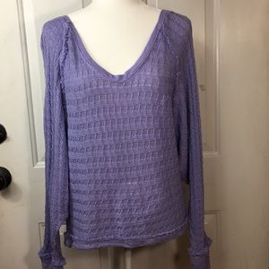 NWT We The Free knitted periwinkle purple top XS